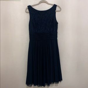 Navy Blue Fit & Flare Dress